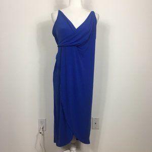 NWT ASOS Blue V Neck Midi Dress